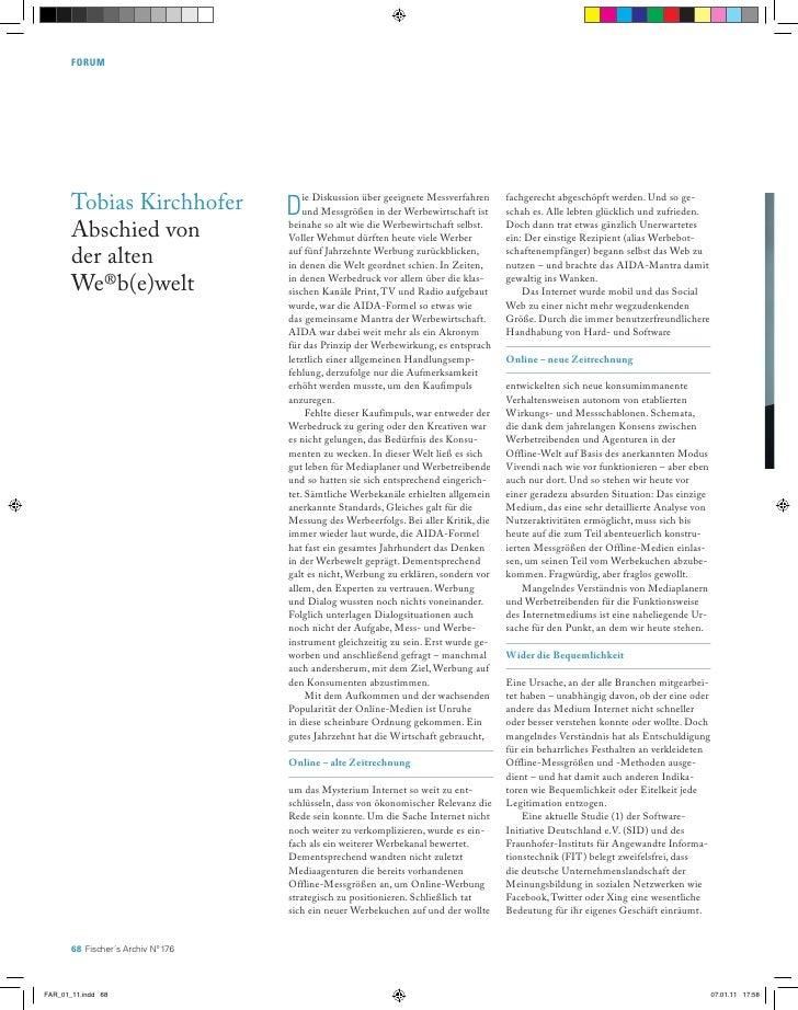 Forum       Tobias Kirchhofer            D   ie Diskussion über geeignete Messverfahren                                   ...
