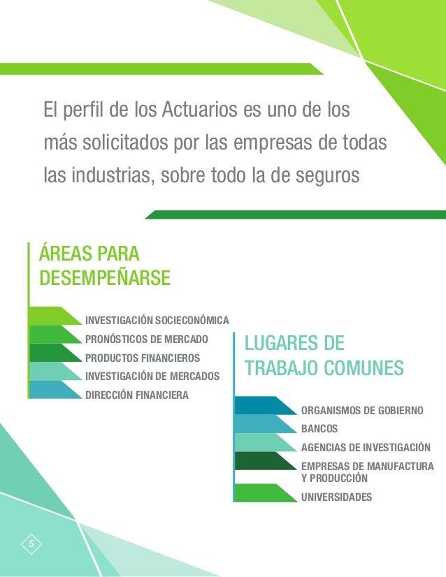 El perfil de los Actuarios es uno de los más solicitados por las empresas de todas las industrias, sobre todo la de seguros...