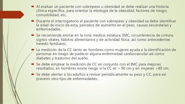 GPC: PREVENCION, DIAGNOSTICO Y TRATAMIENTO DEL SOBREPESO Y