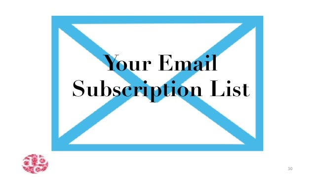Your Email Subscription List 30