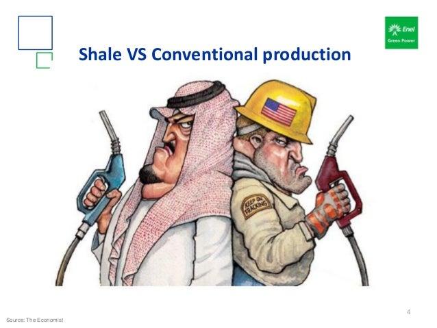 Shale VS Conventional production Source: The Economist 4