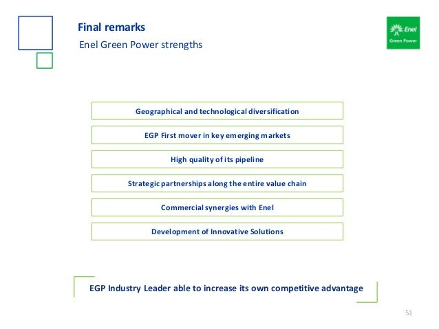 51 EGP First mover in key emerging markets High quality of its pipeline Strategic partnerships along the entire value chai...