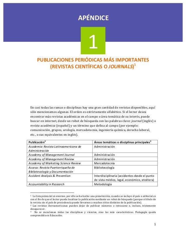 1PUBLICACIONESPERIÓDICASMÁSIMPORTANTES(REVISTASCIENTÍFICASOJOURNALS)1Encasitodaslasramasodisciplinasha...