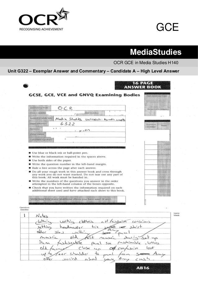 GCE                                                      MediaStudies                                              OCR GCE...