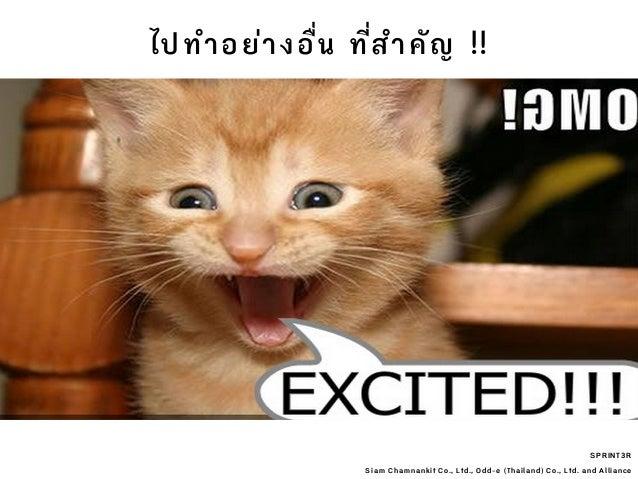 SPRINT3R Siam Chamnankit Co., Ltd., Odd-e (Thailand) Co., Ltd. and Alliance ไปทําอย่างอื่น ที่ําคัญ !!