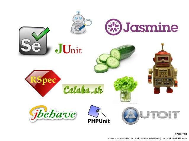 SPRINT3R Siam Chamnankit Co., Ltd., Odd-e (Thailand) Co., Ltd. and Alliance