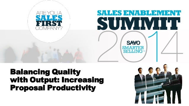 Balancing Quality with Output: Increasing Proposal Productivity