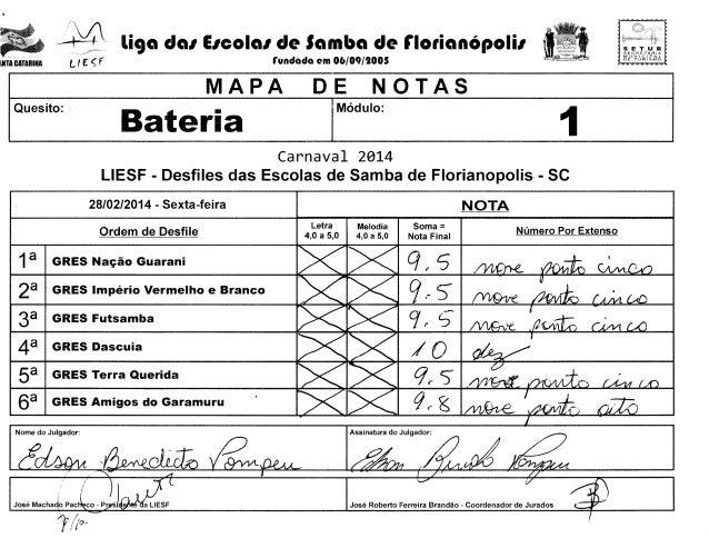 I·  -,0  li9a dal EICOial de Samba de rlotianOpolil  L t F: ~ f  ~NTACATARINA  MUNICIPAL Of TUR:!SMO  rundada em 06/09/tOO...