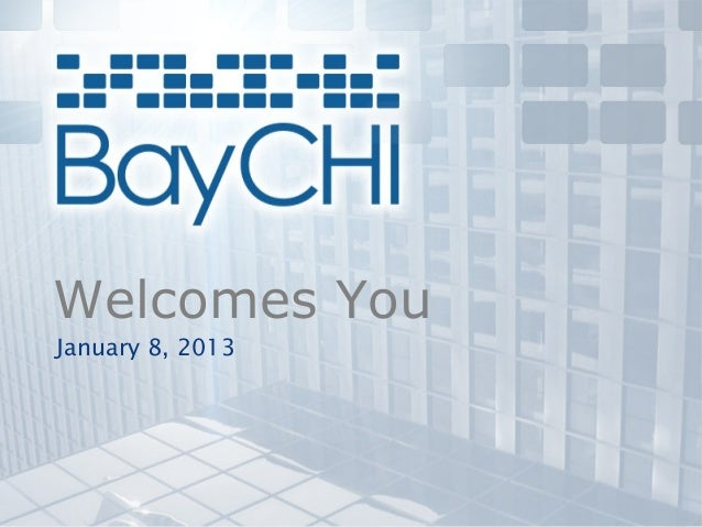 Welcomes YouJanuary 8, 2013