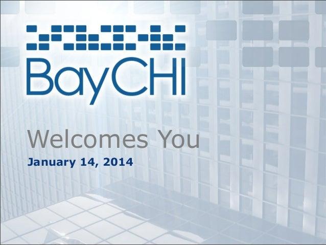 Welcomes You January 14, 2014