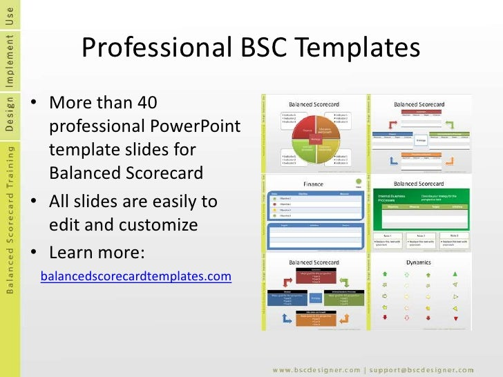 Balanced scorecard templates flashek Images