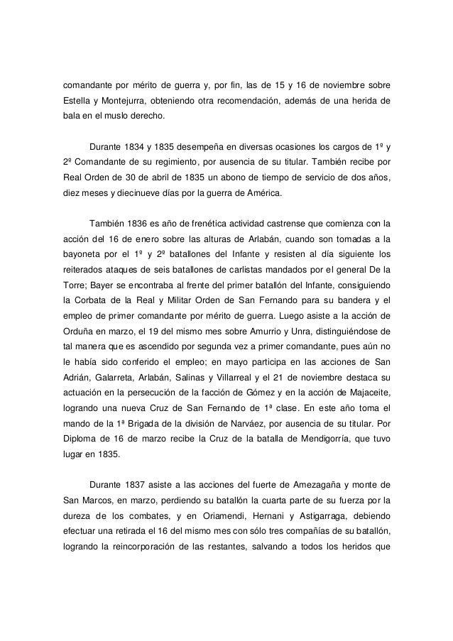 comandante por mérito de guerra y, por fin, las de 15 y 16 de noviembre sobre Estella y Montejurra, obteniendo otra recome...