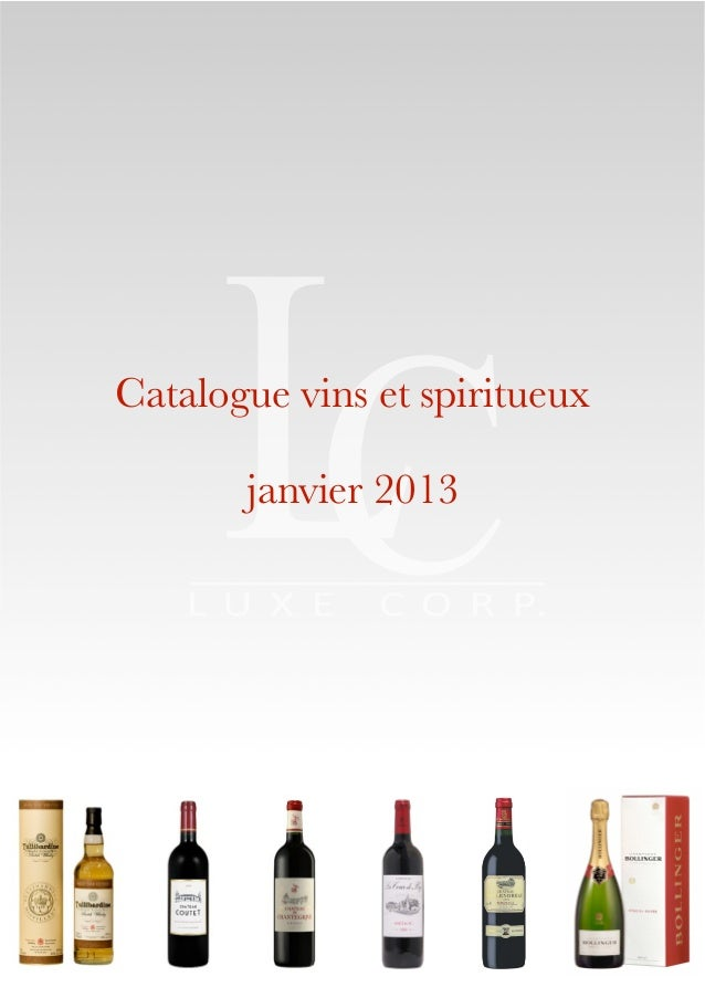 Catalogue vins et spiritueux       janvier 2013                          !