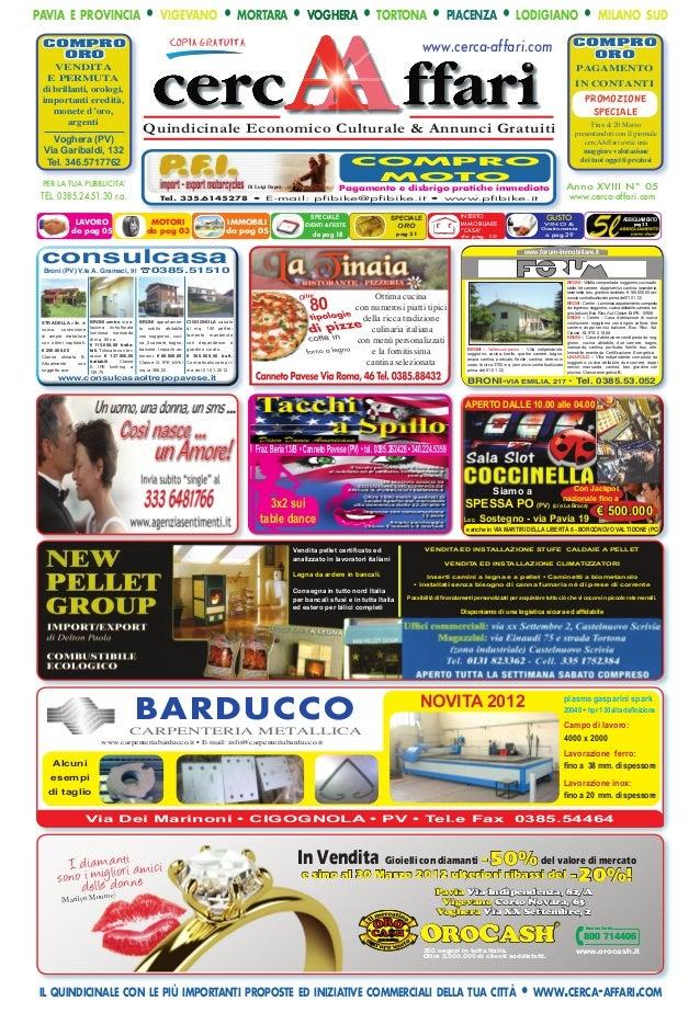 Cercaaffari Prima Pagina Edizione 5 2012