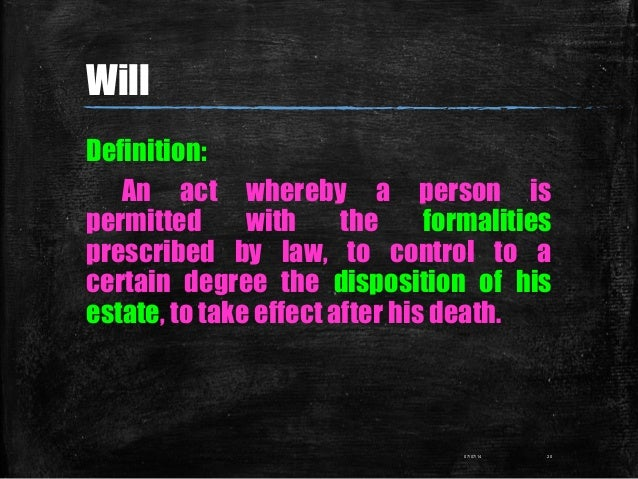 Definition: An act whereby a person is permitted with the formalities prescribed by law, to control to a certain degree th...