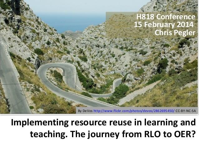 H818 Conference 15 February 2014 Chris Pegler  By DeVos http://www.flickr.com/photos/devos/2862695450/ CC-BY-NC-SA  Implem...