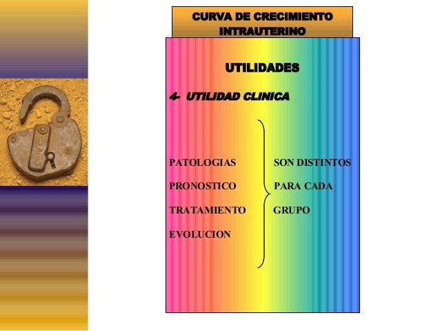 CURVA DE CRECIMIENTO INTRAUTERINO  UTILIDADES 4- UTILIDAD CLINICA  PATOLOGIAS  SON DISTINTOS  PRONOSTICO  PARA CADA  TRATA...