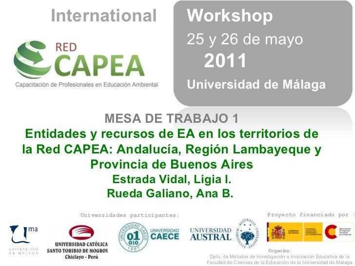 Proyecto financiado por : Universidades participantes: 25 y 26 de mayo  2011 Universidad de Málaga MESA DE TRABAJO 1 Entid...