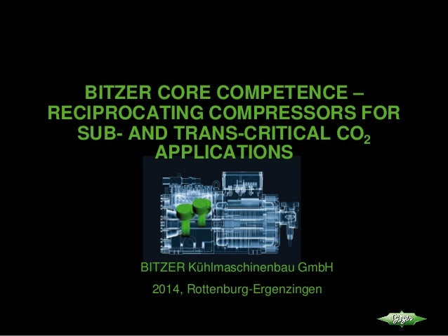 BITZER CORE COMPETENCE – RECIPROCATING COMPRESSORS FOR SUB- AND TRANS-CRITICAL CO2 APPLICATIONS BITZER Kühlmaschinenbau Gm...