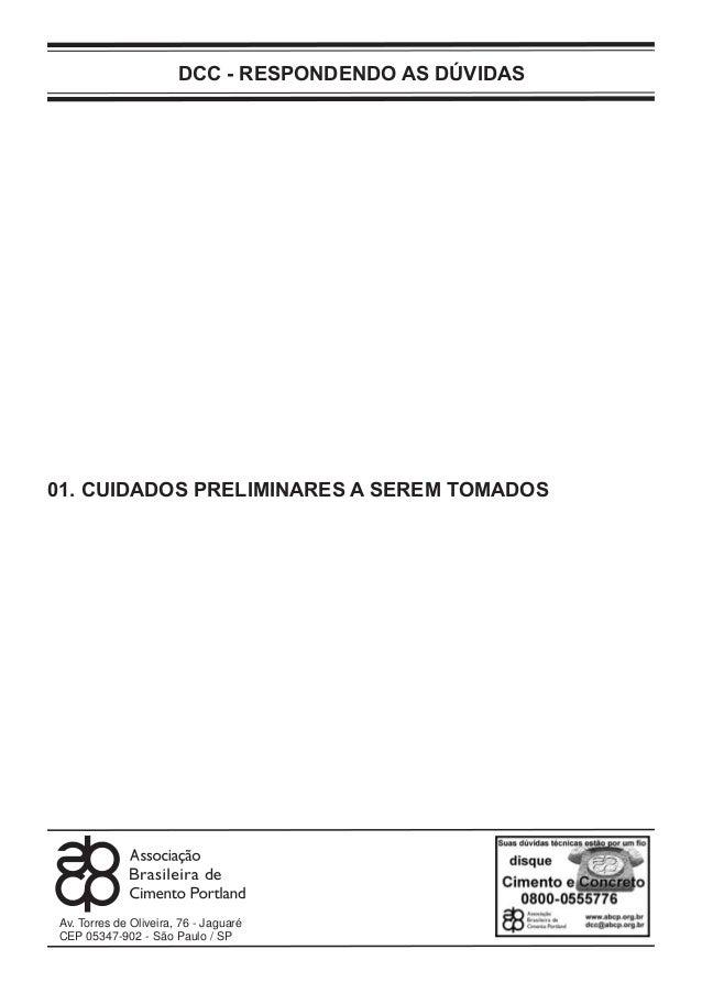 DCC - RESPONDENDO AS DÚVIDASAv. Torres de Oliveira, 76 - JaguaréCEP 05347-902 - São Paulo / SP01. CUIDADOS PRELIMINARES A ...