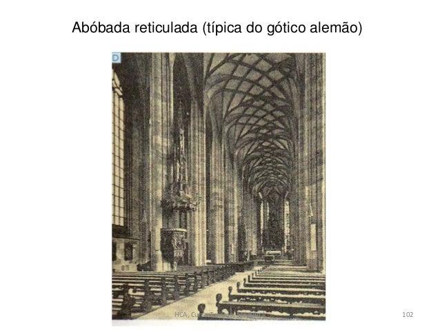 Abóbada reticulada (típica do gótico alemão) HCA, Curso Turismo, Módulo 4 102