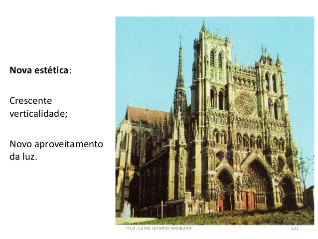 Nova estética: Crescente verticalidade; Novo aproveitamento da luz. HCA, Curso Turismo, Módulo 4 121