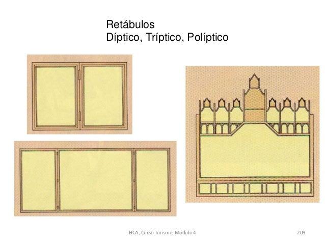Retábulos Díptico, Tríptico, Políptico HCA, Curso Turismo, Módulo 4 209