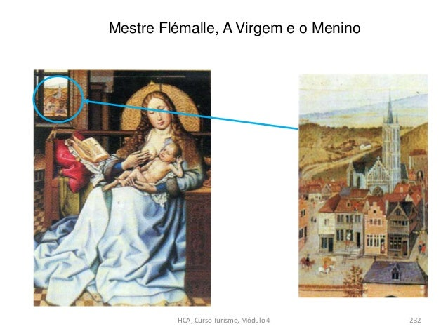 Mestre Flémalle, A Virgem e o Menino HCA, Curso Turismo, Módulo 4 232