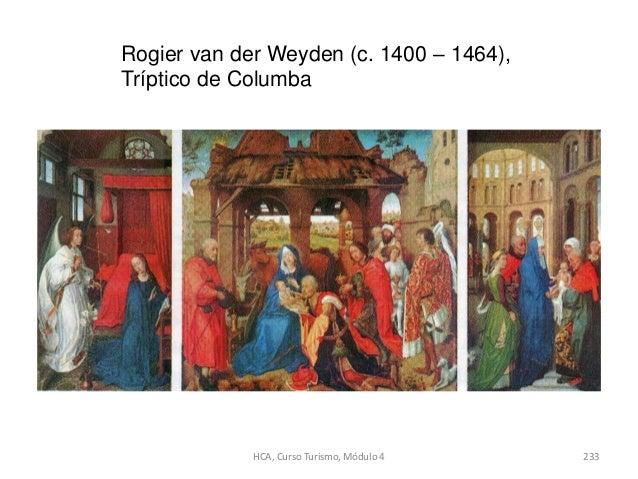 Rogier van der Weyden (c. 1400 – 1464), Tríptico de Columba HCA, Curso Turismo, Módulo 4 233
