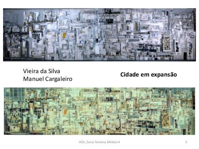 Vieira da Silva Manuel Cargaleiro Cidade em expansão HCA, Curso Turismo, Módulo 4 3