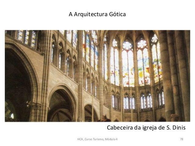 Cabeceira da igreja de S. Dinis A Arquitectura Gótica HCA, Curso Turismo, Módulo 4 78