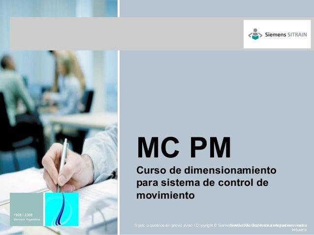 MC PM Curso de dimensionamiento para sistema de control de movimiento                                                     ...