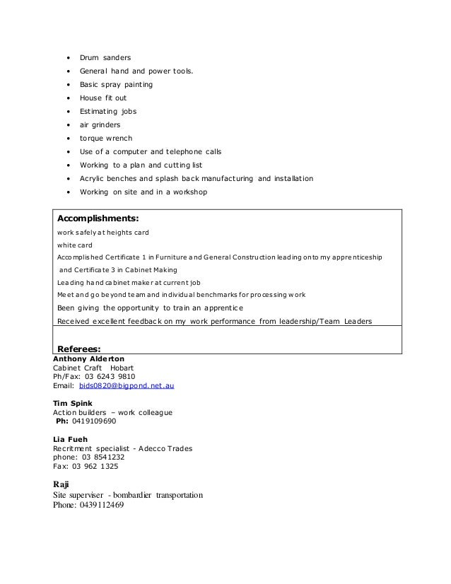 cabinet maker apprentice resume ebook database cabinet maker. Resume Example. Resume CV Cover Letter