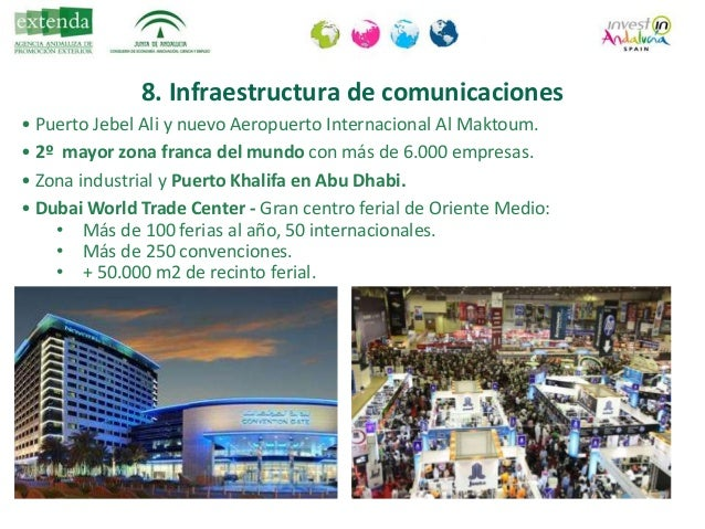 8. Infraestructura de comunicaciones • Metro Dubai y Tranvía . Primer metro del CGG. +50 kms - 47 estaciones. Próxima ampl...