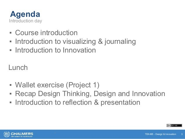 Design Thinking and Innovation Course - Introduction Slide 3