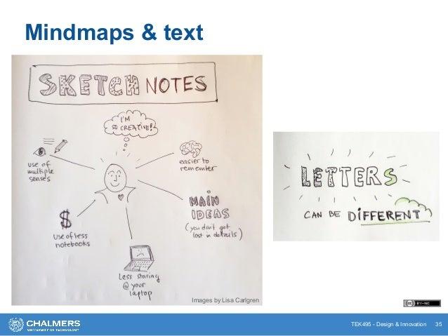TEK495 - Design & Innovation 35 Mindmaps & text Images by Lisa Carlgren