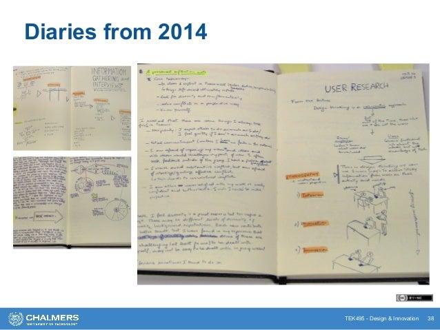 TEK495 - Design & Innovation 38 Diaries from 2014