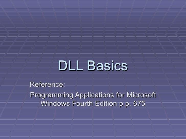01 dll basics