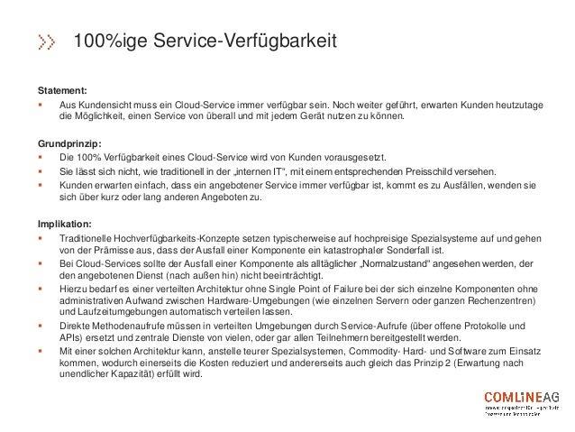 Statement:  Aus Kundensicht muss ein Cloud-Service immer verfügbar sein. Noch weiter geführt, erwarten Kunden heutzutage ...