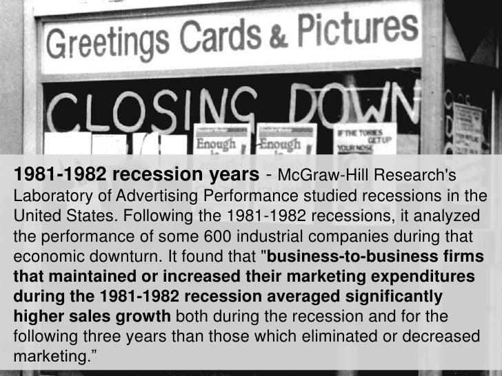 Marketing in a Downturn: Recession Facts