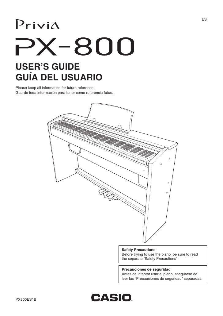 Px 800 casio manual 2747