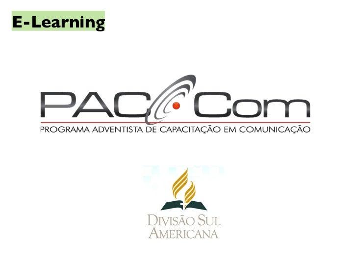 e-learning no programa adventista de comunica u00e7 u00e3o