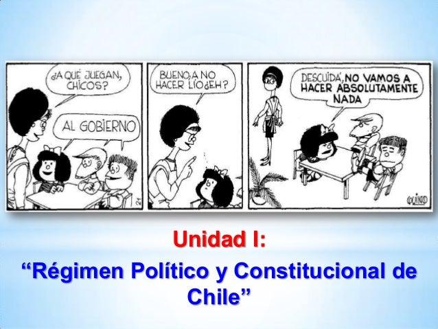 """Unidad I: """"Régimen Político y Constitucional de Chile"""""""