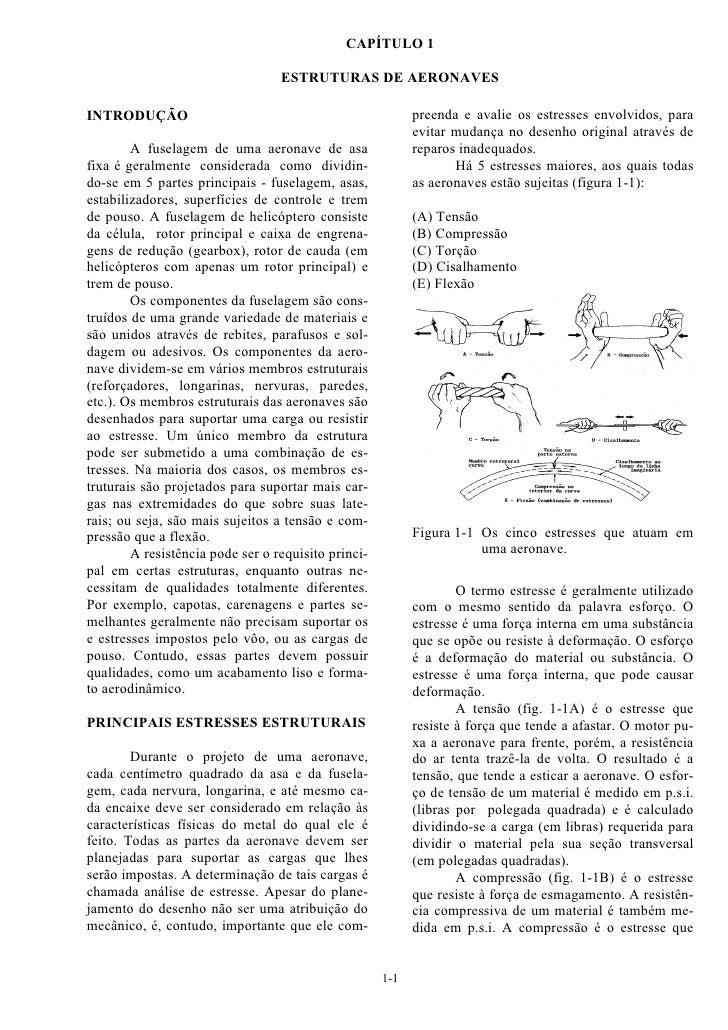 CAPÍTULO 1                                  ESTRUTURAS DE AERONAVESINTRODUÇÃO                                             ...