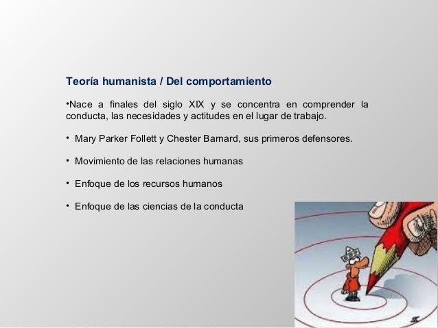 Teoría humanista / Del comportamiento •Nace a finales del siglo XIX y se concentra en comprender la conducta, las necesida...