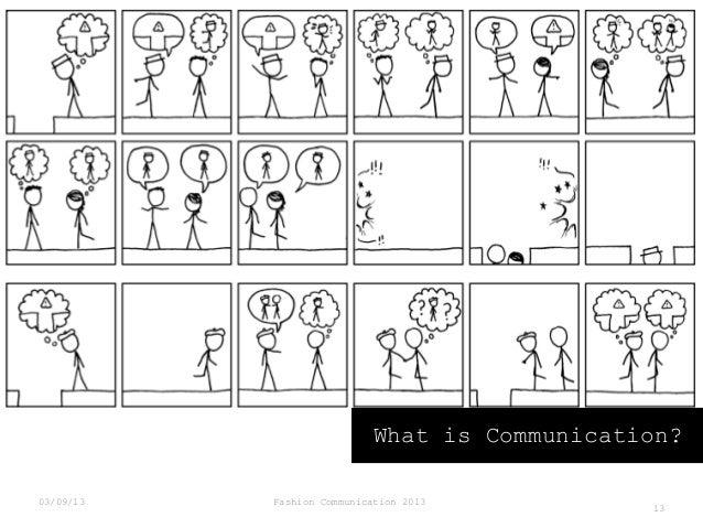 What is Communication? 03/09/13  Fashion Communication 2013  13