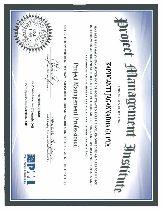 Project Management Institute Pmp Certification Image Collections