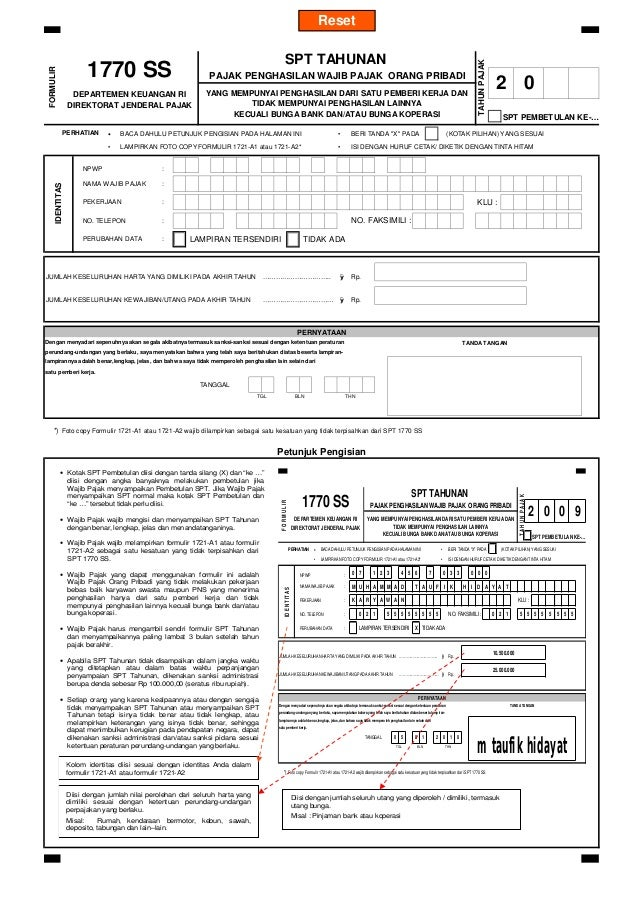 01 Form 1770 Ss 2009