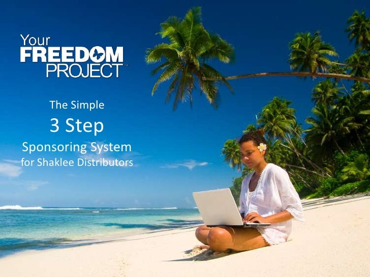 The Simple      3 StepSponsoring Systemfor Shaklee Distributors