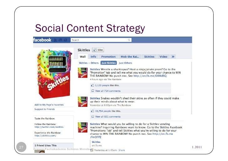 Social Content Strategy27   © Heidrun Allert, Institut für Pädagogik, cau zu kiel   19.01.2011     Frauen:Fachakademie Sch...